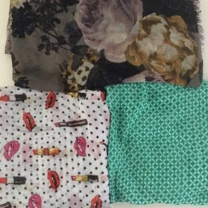 H&M Scarves 3 Bundle/Lot
